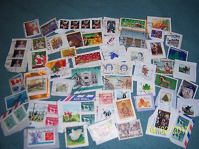 10g USED CANADIAN STAMPS (3)