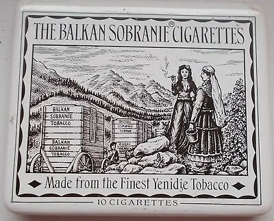 Alte Zigarettendose The Balkan Sobranie 10 Cigarettes United Kingdom
