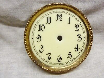 antique anniversary clock dial face enamel brass 8 cm dial clock spares 400 day