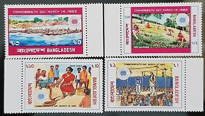 Bangladesh 1983 Sc # 216 to Sc # 219 Commonwealth Day Mint MNH Stamps Set