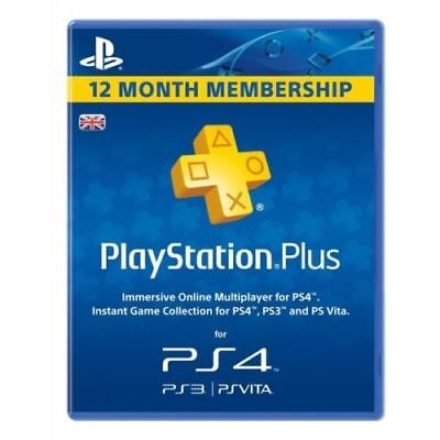 PlayStation Plus Card-365 Day Subscription 1 Year/12 Month Membership UK code