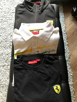 Joblot F1 Ferrari Jacket Polo And T-shirt Formula One