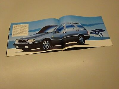 LANCIA THEMA BROCHURE. in FRENCH. MID - LATE 80s ? STATION WAGON, TURBO 16V.