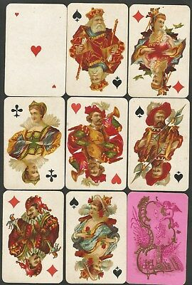 "-Playing Cards- Jeux De Cartes-Non-Standard "" Belgique-Cartes De Luxe"" - 1877""."