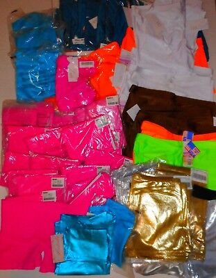 50 Pc Lot Nylon Spandex Shorts Adult L XL NWT Dancewear Bal Togs Balera