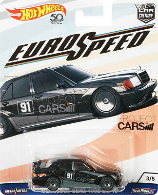 Mercedes-Benz 190E 2.5-16 Euro Speed Car Culture 1:64 Hot Wheels FLC18 FPY86