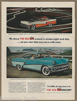 1956 MERCURY MONTCLAIR advertisement, color photos, large size advert