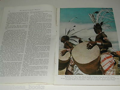 1950 magazine article about AFRICA, British influences, natives, color photos