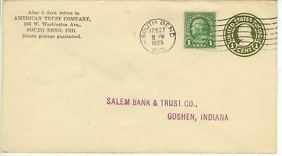April 27 1925 South Bend Indiana American Trust Co 1ct PSE uprated with 1ct