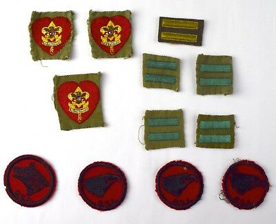 Lot of (12) Vintage BSA Life Patrol Hash Mark Patches - NO RESERVE TF-7