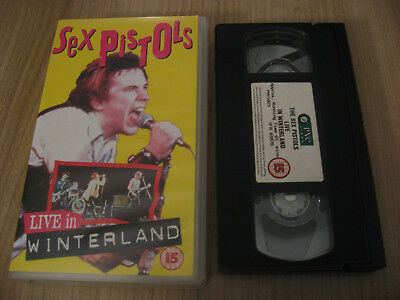 SEX PISTOLS live in winterland 1978 VHS RAMONES DEAD KENNEDYS BUZZCOCKS