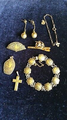A Collection Of Damascene Jewellery All In Good Condition
