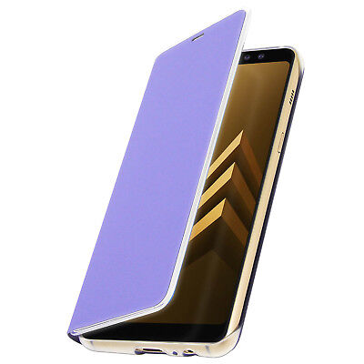 Bright Genuine Samsung Galaxy A8 Neon Flip Cover Phone Case New ef-fa530 Orchid Gray