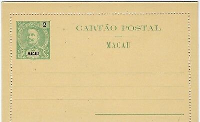Macao 1903 2a and 4a stationery letter cards unused