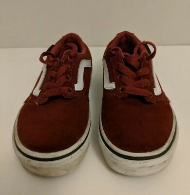 511c4b739ab6c3 VANS CHAPMAN STRIPE Trainers Kids Size UK 11 Red and White - EUR 9 ...