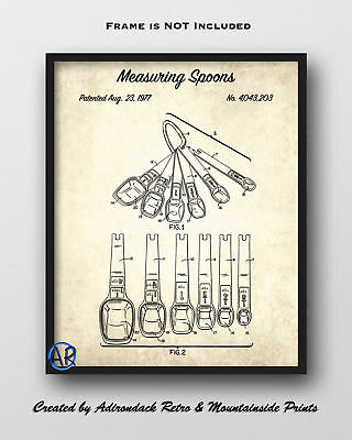 Measuring Spoons Patent Art Print  -  Vintage Patent Drawing