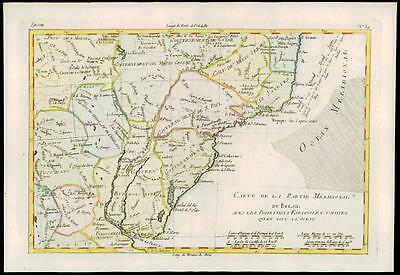 1780 Antique Map of BRAZIL URUGUAY PARAGUAY Meridional Bresil by Bonne (18)