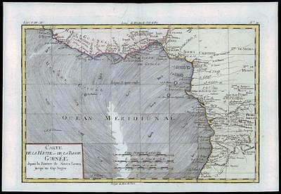 1780 Antique Map DE LA HAUTE BASSE GUINEE SIERRA LEONE Guinea by Bonne (41)