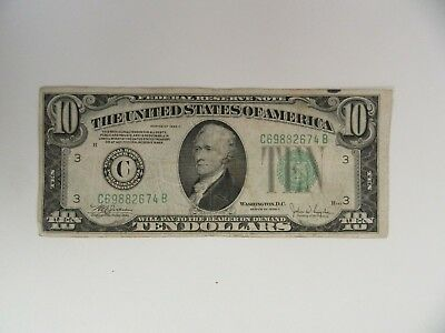$10.00 Federal Reserve Note  Series 1934 C
