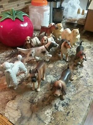Large lot of dog figurines Norcrest Japan