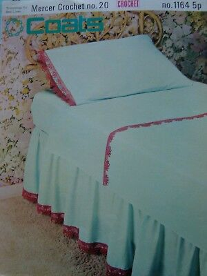 Coats 1164 Trimmings For Bed Linen Vintage Crochet Pattern