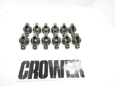 Crower Stainless Steel Roller Rocker Arms 7/16 Stud 1.6 Ratio Chevy