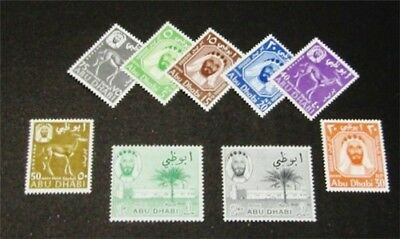 nystamps British Abu Dhabi Stamp # 1-9 Mint OG NH $51
