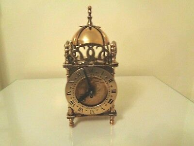 Vintage Brass Smiths Lantern Clock mechanical movement for spares or repairs