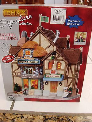 Lemax Christmas Village Michaels.Lemax Signature Belgian Waffle House Michaels Exc Lighted Christmas Village