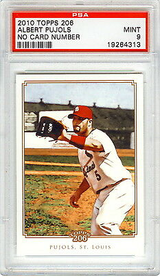 2010 Albert Pujols Topps 206 #321 Shortprint Psa 9 Mint Pop 2! Bonus & Free Ship