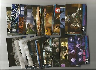 Doctor Who Timeless (Topps)  Blue Parallel Lot Of 55 Diff. #/99