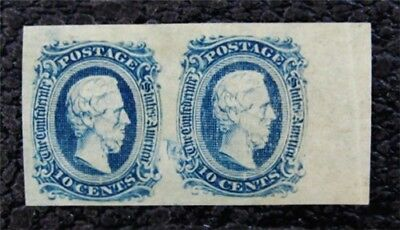 nystamps US CSA Confederate Stamp # 11 Mint OG H Paid: $100 PR Faulty Plate
