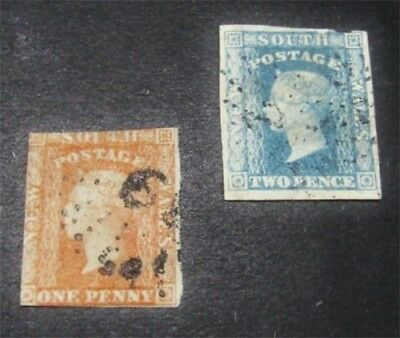 nystamps British Australian States New South Wales Stamp # 32.33 Used $85