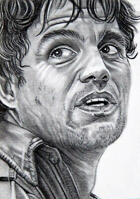ORIGINAL ACEO sketch card MARVEL *SALE* THE AVENGERS Mark Ruffalo BRUCE BANNER