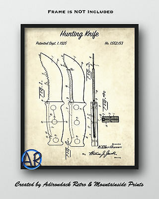 1925 Hunting Knife Patent Art Print 2  -  Knife Poster