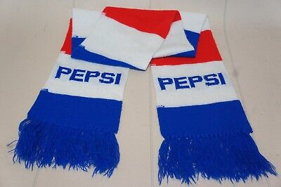 VINTAGE PEPSI SCARF  64inch  RED WHITE AND BLUE