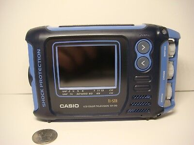 Vintage Casio Electronics SY-30B Color LCD Pocket TV Water Resistant MINT Cond!