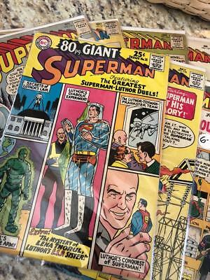 1 X Lot of 5 Superman related Silver-Age DC Comics FREE Ship USA