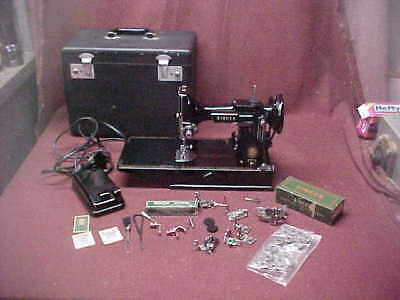 Vintage Singer Featherweight 221 Sewing Machine, Excellent Clean Condition, 1956