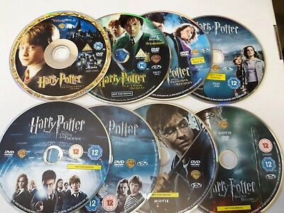 Harry Potter Complete Collection Dvd Discs Only UK Region 2