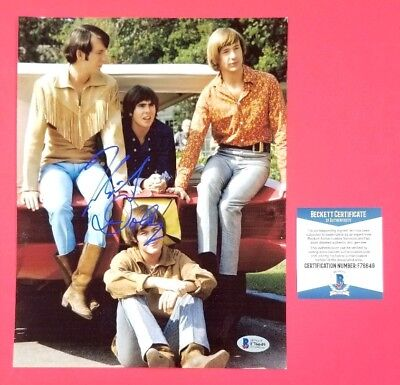 """The Monkees - Micky Dolenz Signed 8""""X10"""" Color Group Photo With Beckett Bas Coa"""