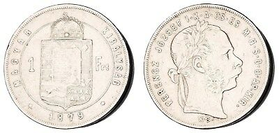 =XE.209) HUNGARY 1 forint 1879 / Silver / F+
