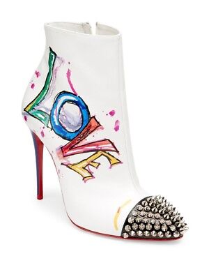 8af6b502dca CHRISTIAN LOUBOUTIN BOOT IN LOVE 100 Leather Ankle Booties Heels ...
