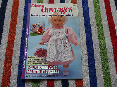 Magazine Collector Diana Ouvrages N°3 - Spécial Tricot