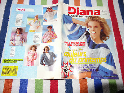 Magazine Collector Diana Ouvrages N°5 - Plaisirs Du Tricot