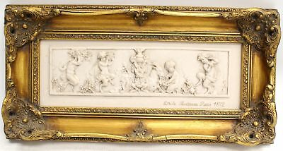 High Quality EMILIE BOISSEAU Bas Relief Wall Plaque Reproduction In Frame - SA2