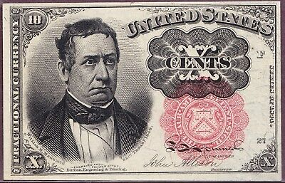 FR. 1265 10¢ FIFTH ISSUE FRACTIONAL CURRENCY NOTE Choice AU