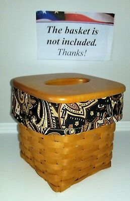 Tall Tissue Basket Liner from Longaberger Timeless fabric!