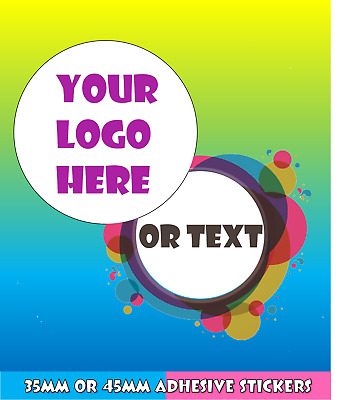 Logo Printed Round Stickers - Custom Logo Labels - Personalised - Postage Labels