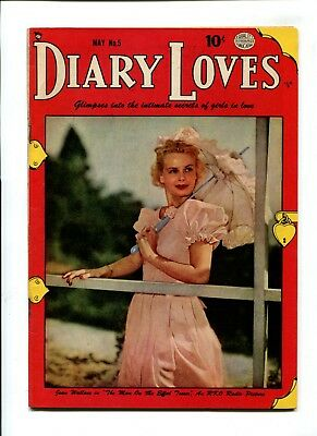 Diary Loves #5 FN 6.0 VINTAGE Golden Age 10c Quality Comic Romance